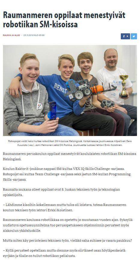 KESKIVIIKKO 25. TOUKOKUUTA 2016 -Länsi-Suomi